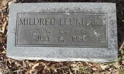 KUMPE LEUKHART (VETERAN WWII), MILDRED - Pulaski County, Arkansas | MILDRED KUMPE LEUKHART (VETERAN WWII) - Arkansas Gravestone Photos