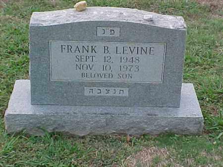 LEVINE, FRANK B - Pulaski County, Arkansas | FRANK B LEVINE - Arkansas Gravestone Photos