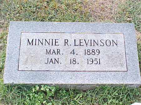 LEVINSON, MINNIE R - Pulaski County, Arkansas | MINNIE R LEVINSON - Arkansas Gravestone Photos