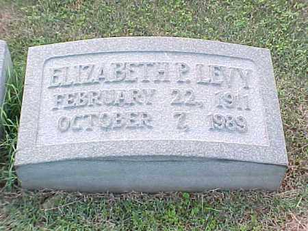 LEVY, ELIZABETH P - Pulaski County, Arkansas | ELIZABETH P LEVY - Arkansas Gravestone Photos
