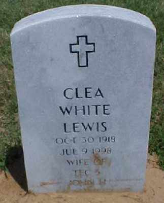 WHITE LEWIS, CLEA - Pulaski County, Arkansas | CLEA WHITE LEWIS - Arkansas Gravestone Photos