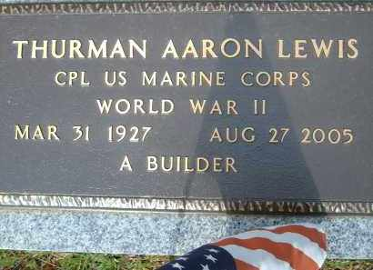 LEWIS (VETERAN WWII), THURMAN AARON - Pulaski County, Arkansas | THURMAN AARON LEWIS (VETERAN WWII) - Arkansas Gravestone Photos