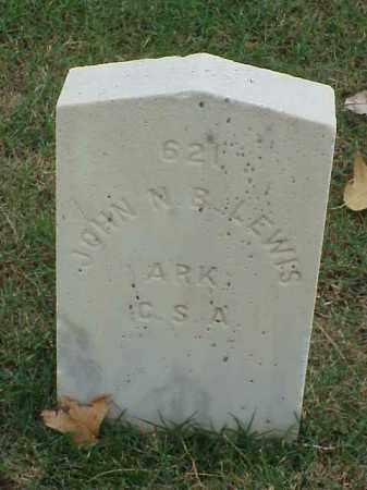 LEWIS (VETERAN CSA), JOHN N B - Pulaski County, Arkansas | JOHN N B LEWIS (VETERAN CSA) - Arkansas Gravestone Photos
