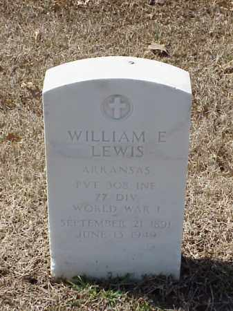 LEWIS (VETERAN WWI), WILLIAM E - Pulaski County, Arkansas | WILLIAM E LEWIS (VETERAN WWI) - Arkansas Gravestone Photos