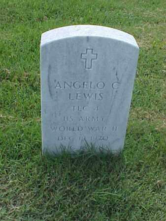 LEWIS (VETERAN WWII), ANGELO C - Pulaski County, Arkansas | ANGELO C LEWIS (VETERAN WWII) - Arkansas Gravestone Photos