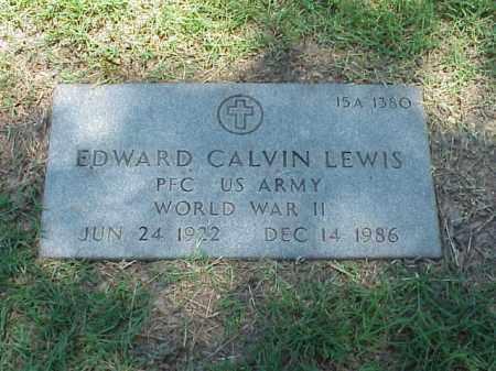 LEWIS (VETERAN WWII), EDWARD CALVIN - Pulaski County, Arkansas | EDWARD CALVIN LEWIS (VETERAN WWII) - Arkansas Gravestone Photos