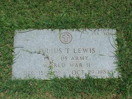 LEWIS (VETERAN WWII), JULIUS T - Pulaski County, Arkansas | JULIUS T LEWIS (VETERAN WWII) - Arkansas Gravestone Photos