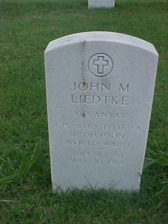 LIEDTKE (VETERAN WWI), JOHN M - Pulaski County, Arkansas | JOHN M LIEDTKE (VETERAN WWI) - Arkansas Gravestone Photos