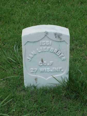 LIEFBRODER (VETERAN UNION), JAN - Pulaski County, Arkansas | JAN LIEFBRODER (VETERAN UNION) - Arkansas Gravestone Photos