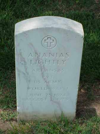 LIGHTLY (VETERAN WWI), ANANIAS - Pulaski County, Arkansas | ANANIAS LIGHTLY (VETERAN WWI) - Arkansas Gravestone Photos