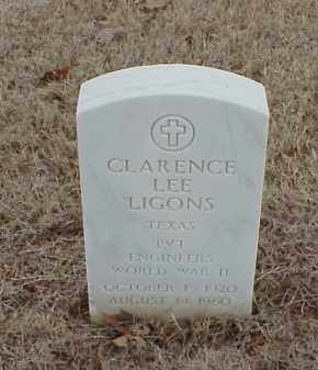 LIGONS  (VETERAN WWII), CLARENCE LEE - Pulaski County, Arkansas | CLARENCE LEE LIGONS  (VETERAN WWII) - Arkansas Gravestone Photos