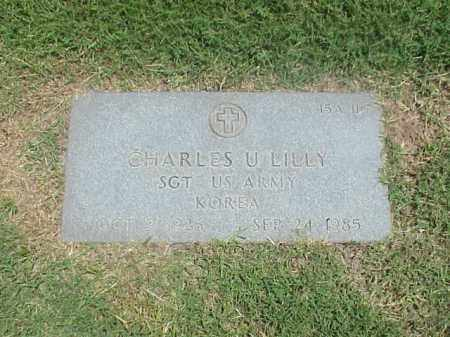 LILLY (VETERAN KOR), CHARLES U - Pulaski County, Arkansas | CHARLES U LILLY (VETERAN KOR) - Arkansas Gravestone Photos