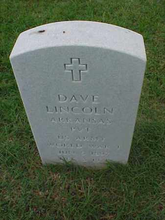 LINCOLN (VETERAN WWI), DAVE - Pulaski County, Arkansas | DAVE LINCOLN (VETERAN WWI) - Arkansas Gravestone Photos