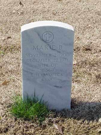 LINDBECK, MARIE B - Pulaski County, Arkansas | MARIE B LINDBECK - Arkansas Gravestone Photos