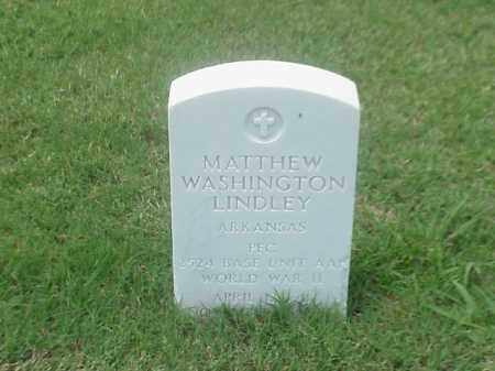 LINDLEY (VETERAN WWII), MATTHEW WASHINGTON - Pulaski County, Arkansas | MATTHEW WASHINGTON LINDLEY (VETERAN WWII) - Arkansas Gravestone Photos