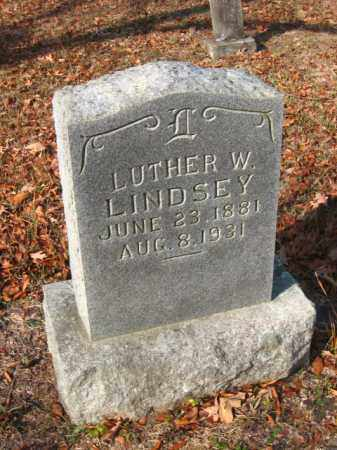 LINDSEY, LUTHER W - Pulaski County, Arkansas | LUTHER W LINDSEY - Arkansas Gravestone Photos