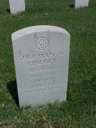 LINDSEY (VETERAN), SHERMAN W - Pulaski County, Arkansas | SHERMAN W LINDSEY (VETERAN) - Arkansas Gravestone Photos