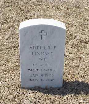 LINDSEY (VETERAN WWII), ARTHUR F - Pulaski County, Arkansas | ARTHUR F LINDSEY (VETERAN WWII) - Arkansas Gravestone Photos