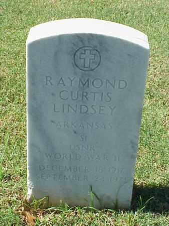 LINDSEY (VETERAN WWII), RAYMOND CURTIS - Pulaski County, Arkansas | RAYMOND CURTIS LINDSEY (VETERAN WWII) - Arkansas Gravestone Photos