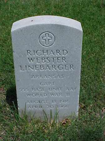 LINEBARGER (VETERAN WWII), RICHARD WEBSTER - Pulaski County, Arkansas | RICHARD WEBSTER LINEBARGER (VETERAN WWII) - Arkansas Gravestone Photos