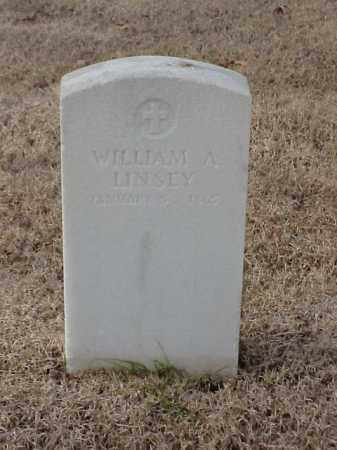 LINSEY (VETERAN), WILLIAM A - Pulaski County, Arkansas | WILLIAM A LINSEY (VETERAN) - Arkansas Gravestone Photos