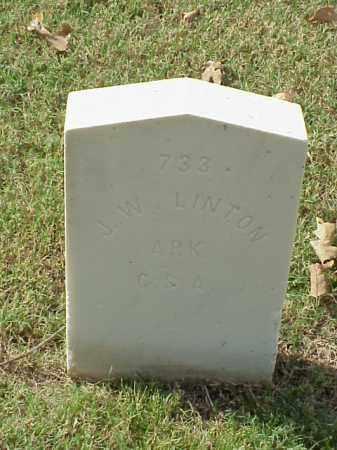 LINTON (VETERAN CSA), J W - Pulaski County, Arkansas | J W LINTON (VETERAN CSA) - Arkansas Gravestone Photos