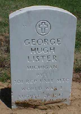 LISTER (VETERAN WWI), GEORGE HUGH - Pulaski County, Arkansas | GEORGE HUGH LISTER (VETERAN WWI) - Arkansas Gravestone Photos