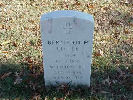 LITTLE (VETERAN WWI), BERNARD H - Pulaski County, Arkansas | BERNARD H LITTLE (VETERAN WWI) - Arkansas Gravestone Photos