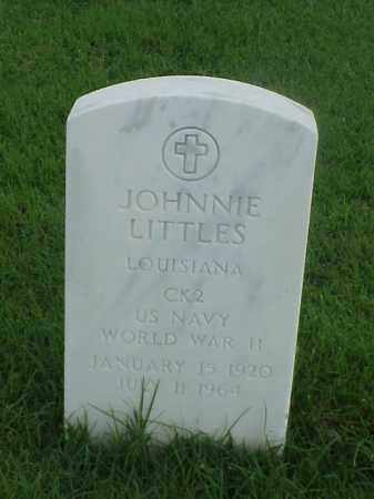 LITTLES (VETERAN WWII), JOHNNIE - Pulaski County, Arkansas | JOHNNIE LITTLES (VETERAN WWII) - Arkansas Gravestone Photos
