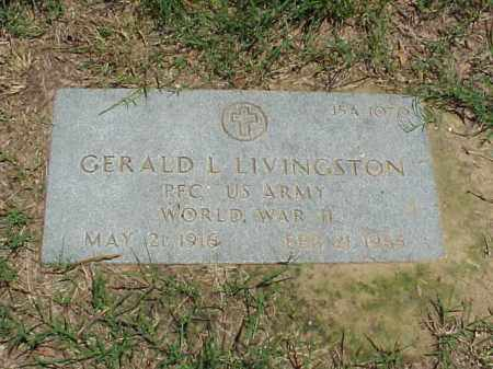 LIVINGSTON (VETERAN WWII), GERALD L - Pulaski County, Arkansas | GERALD L LIVINGSTON (VETERAN WWII) - Arkansas Gravestone Photos