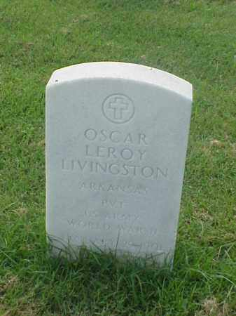 LIVINGSTON (VETERAN WWII), OSCAR LEROY - Pulaski County, Arkansas | OSCAR LEROY LIVINGSTON (VETERAN WWII) - Arkansas Gravestone Photos