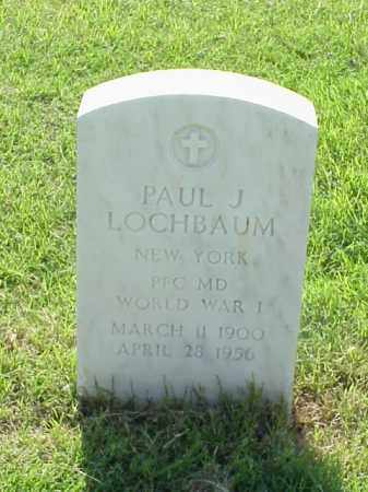 LOCHBAUM (VETERAN WWI), PAUL J - Pulaski County, Arkansas | PAUL J LOCHBAUM (VETERAN WWI) - Arkansas Gravestone Photos