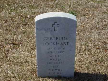 LOCKHART, GERTRUDE - Pulaski County, Arkansas | GERTRUDE LOCKHART - Arkansas Gravestone Photos