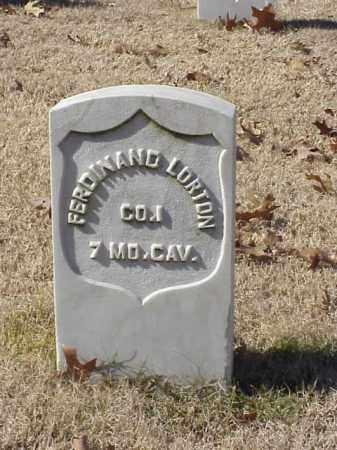 LORTON (VETERAN UNION), FERDINAND - Pulaski County, Arkansas | FERDINAND LORTON (VETERAN UNION) - Arkansas Gravestone Photos