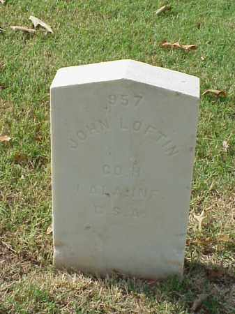 LOFTIN (VETERAN CSA), JOHN - Pulaski County, Arkansas | JOHN LOFTIN (VETERAN CSA) - Arkansas Gravestone Photos