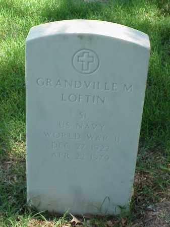 LOFTIN (VETERAN WWII), GRANDVILLE M - Pulaski County, Arkansas | GRANDVILLE M LOFTIN (VETERAN WWII) - Arkansas Gravestone Photos