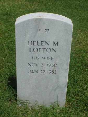 LOFTON, HELEN M - Pulaski County, Arkansas | HELEN M LOFTON - Arkansas Gravestone Photos