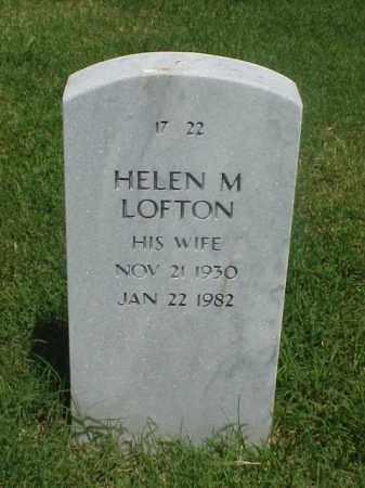 LOFTON, HELEN M - Pulaski County, Arkansas | HELEN M LOFTON - Arkansas Gravestone Photos