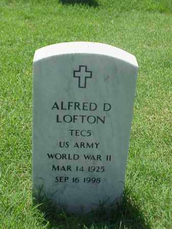 LOFTON (VETERAN WWII), ALFRED D - Pulaski County, Arkansas | ALFRED D LOFTON (VETERAN WWII) - Arkansas Gravestone Photos