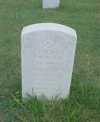 LOHN (VETERAN WWI), IVON INGRAM - Pulaski County, Arkansas | IVON INGRAM LOHN (VETERAN WWI) - Arkansas Gravestone Photos