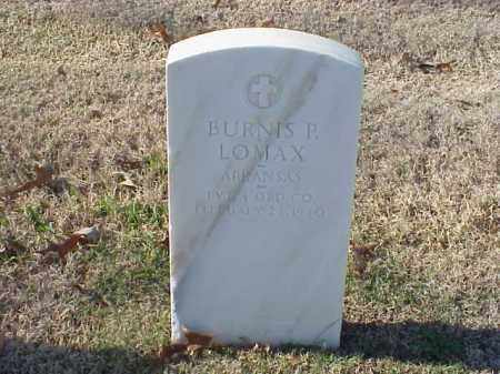 LOMAX (VETERAN WWI), BURNIS P - Pulaski County, Arkansas | BURNIS P LOMAX (VETERAN WWI) - Arkansas Gravestone Photos