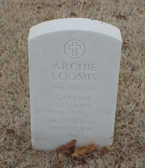 LOOMIS  (VETERAN 2 WARS), ARCHIE - Pulaski County, Arkansas | ARCHIE LOOMIS  (VETERAN 2 WARS) - Arkansas Gravestone Photos
