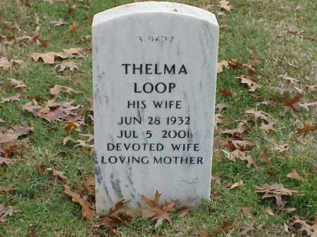 LOOP, THELMA - Pulaski County, Arkansas | THELMA LOOP - Arkansas Gravestone Photos