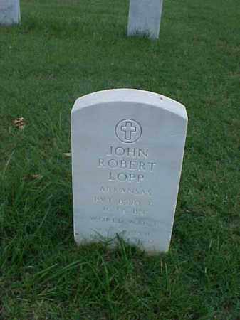 LOPP (VETERAN WWI), JOHN ROBERT - Pulaski County, Arkansas | JOHN ROBERT LOPP (VETERAN WWI) - Arkansas Gravestone Photos