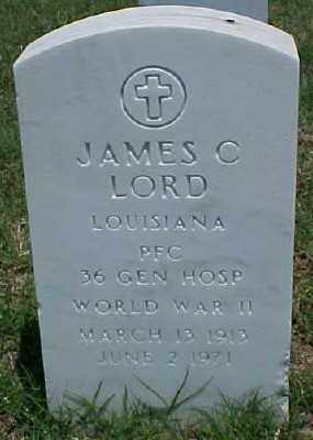 LORD (VETERAN WWII), JAMES C - Pulaski County, Arkansas | JAMES C LORD (VETERAN WWII) - Arkansas Gravestone Photos