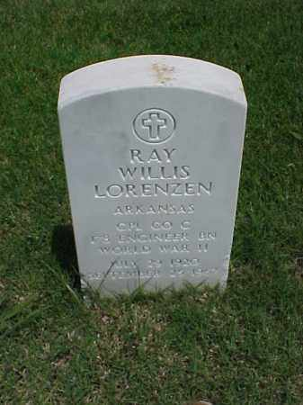 LORENZEN (VETERAN WWII), RAY WILLIS - Pulaski County, Arkansas | RAY WILLIS LORENZEN (VETERAN WWII) - Arkansas Gravestone Photos