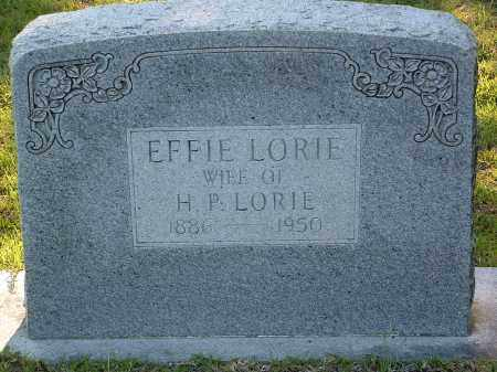 LORIE, EFFIE - Pulaski County, Arkansas | EFFIE LORIE - Arkansas Gravestone Photos