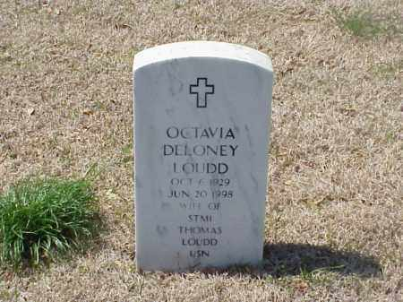 DELONEY LOUDD, OCTAVIA - Pulaski County, Arkansas | OCTAVIA DELONEY LOUDD - Arkansas Gravestone Photos