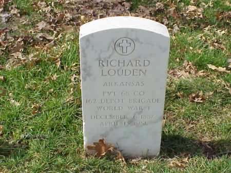 LOUDEN (VETERAN WWI), RICHARD - Pulaski County, Arkansas | RICHARD LOUDEN (VETERAN WWI) - Arkansas Gravestone Photos