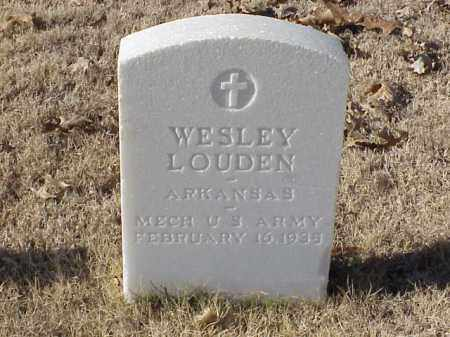 LOUDEN (VETERAN WWI), WESLEY - Pulaski County, Arkansas | WESLEY LOUDEN (VETERAN WWI) - Arkansas Gravestone Photos
